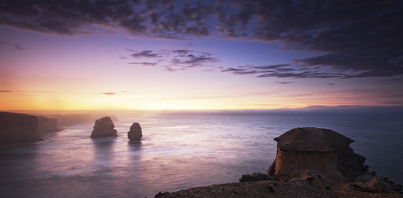 private lookout, viewing platform, port campbell, great ocean rd, victoria, australia