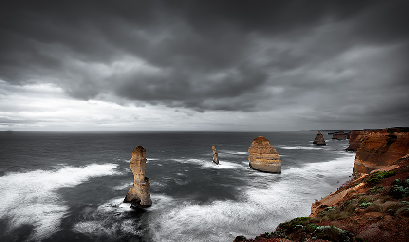 survivors of the storms, 12 apostles, great ocean rd, port campbell national park, victoria, australia