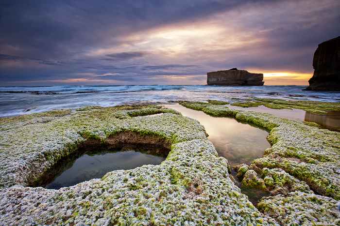 my resting place, seaweed sunset, port campbell, great ocean rd, victoria, australia