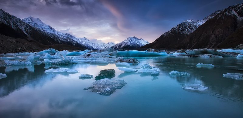 lost in blue velvet, mount cook, south island, new zealand,