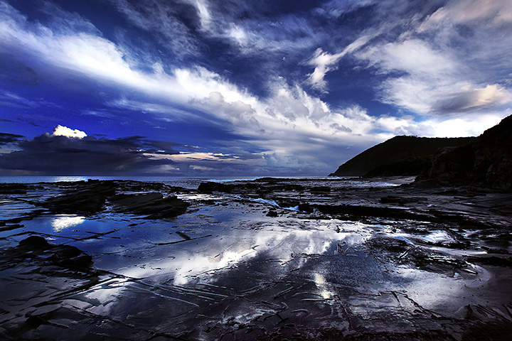 Clouds and reflections, Victoria, Australia