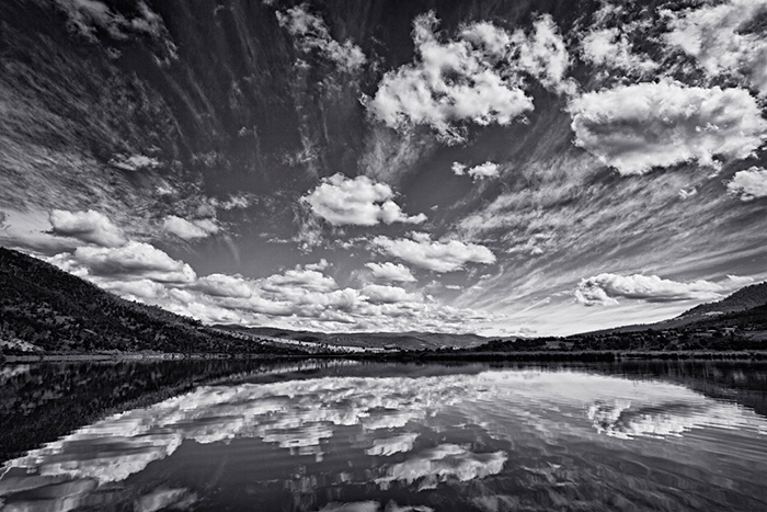 Reflections and clouds, Derwent River, Tasmania.