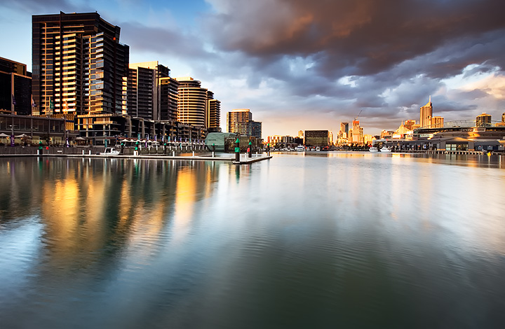 Clouds and reflections over Docklands, melbourne.