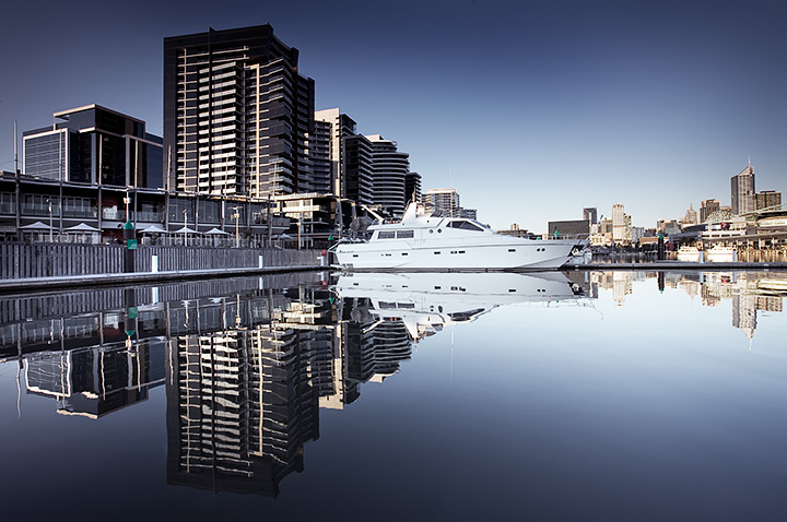 Peaceful waters, Docklands, Melbourne.