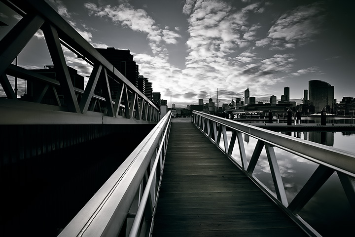 Walkway to the City, Docklands, Melbourne.