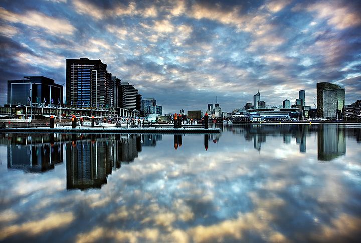 Circle of reflections, Docklands, Melbourne.
