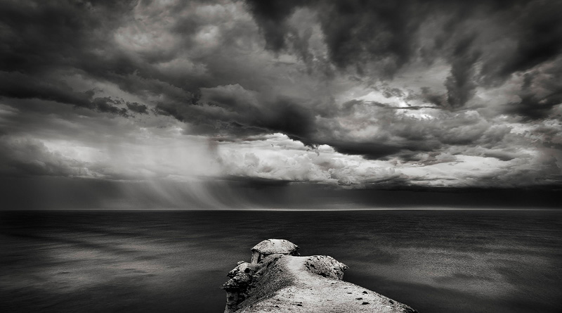 Stormy skies over Port Campbell, Great Ocean Rd victoria, Australia.