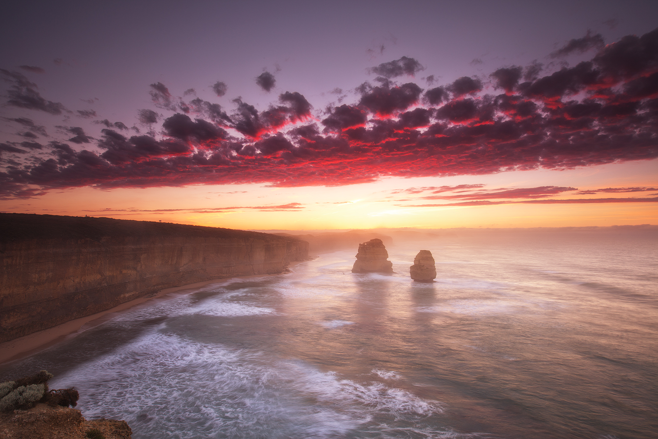 morning light, gibson beach, port campbell, great ocean road, victoria, long exposure,
