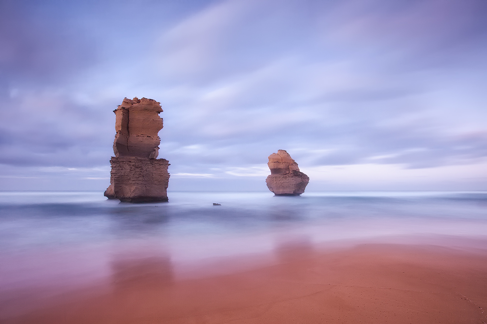 Soft morning light and a long exposure at Gibson Beach, Victoria. Photo © Darren J Bennett. All Rights Reserved.
