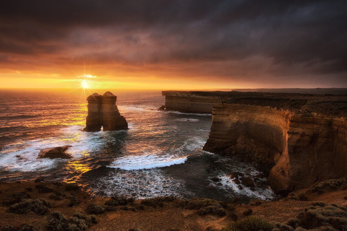 Beautiful sunset along the trail at Loch Ard Gorge, Melbourne, Victoria. Photo © Darren J Bennett. All Rights Reserved.