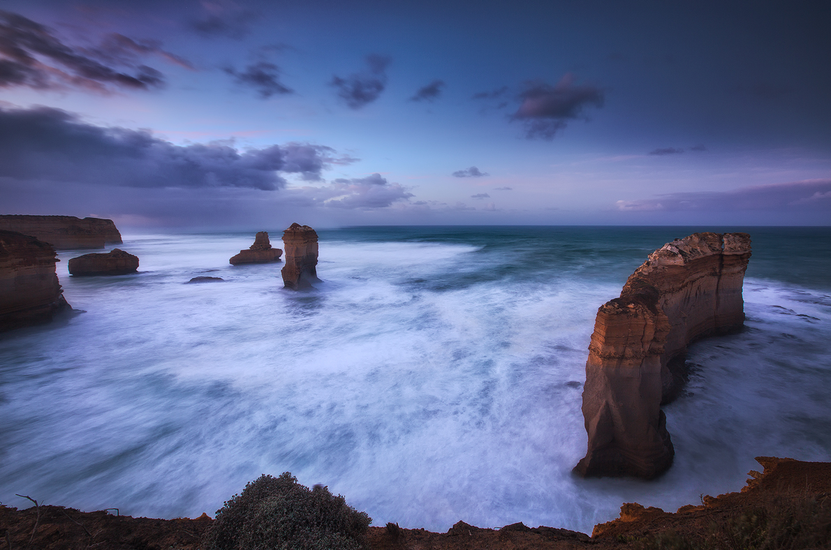 Soft muted colours blend with the long exposure on the water surface, Razor Back, Victoria, Photo © Darren J Bennett. All Rights...