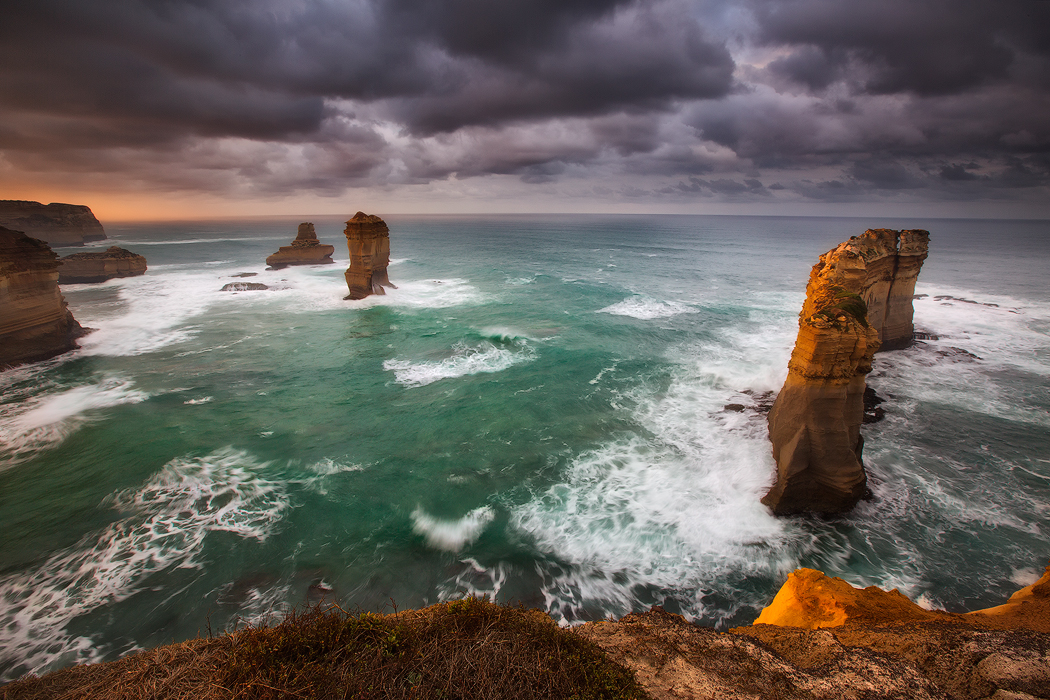 Dramatic sky and long exposure adds mood and atmosphere at the Razor Back, Victoria. Photo © Darren J Bennett. All Rights Reserved...