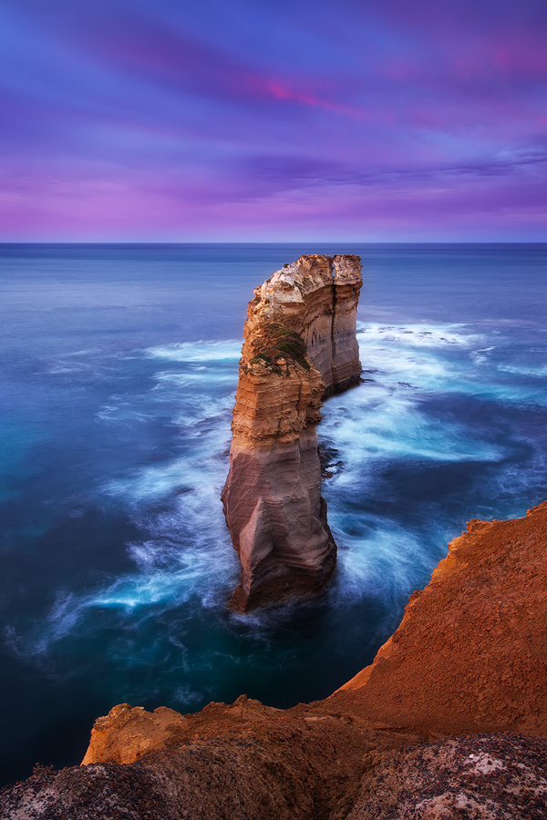 The Razorback from a different perspective, using the cliff edge for framing,  Melbourne, Victoria. Photo © Darren J Bennett...