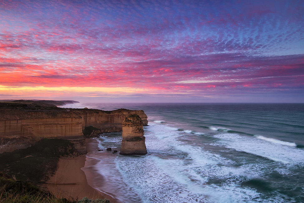 Looking back towards the 12 Apostles, Port Campbell. Photo © Darren J Bennett. All Rights Reserved.